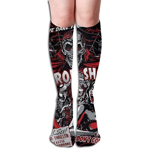 Horror Movie Skull Spook Show Funny Athletic Socks