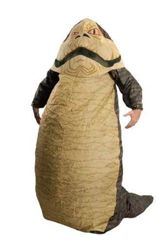 Star Wars Jabba The Hut Deluxe Inflatable Adult Costume, Brown, One Size (Fits Up To 44 Jacket (Inflatable Body Costume)