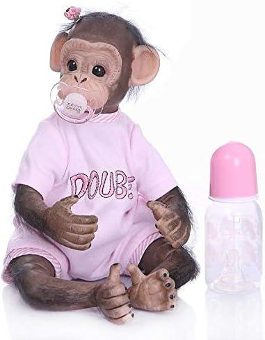 Girl Pinky Reborn Baby Dolls 16//40cm Handmade Newborn Baby Monkey Boy and Girl Dolls Soft Silicone Vinyl Lifelike Reborn Doll Best Gift for Kids Xmas