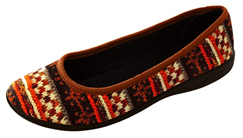 aveente - Zapatillas de estar por casa de Terciopelo para mujer Multicolor