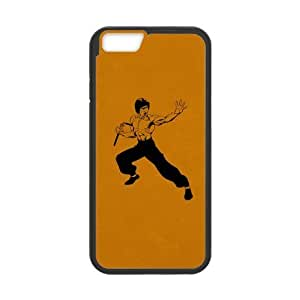 Cool Bruce Lee Li Xiaolong Plastic and TPU Case Cover for iPhone 6 - 4.7 Inch (Laser Technology)