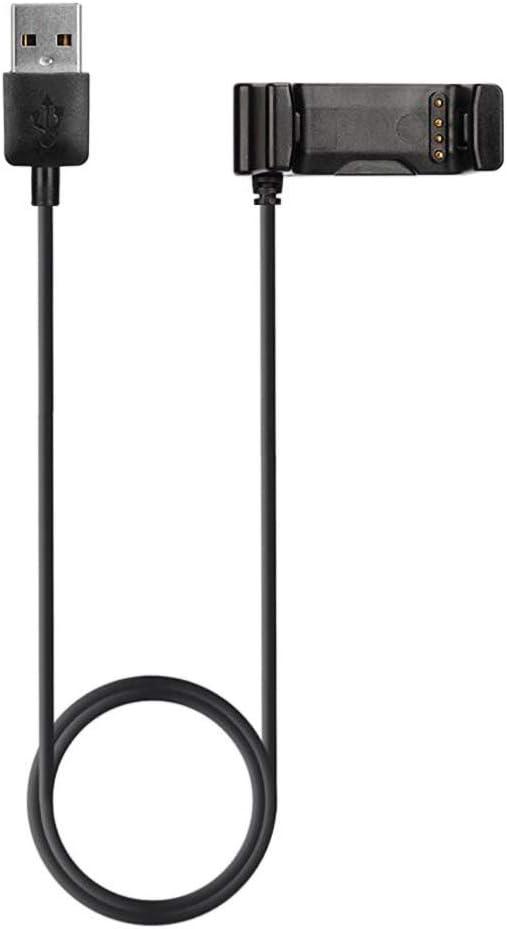Smartwatch-Ladestation Balai SmartWatch USB Ladekabel Weiches tragbares Netzkabel f/ür Garmin Vivoactive HR 1 m, schwarz