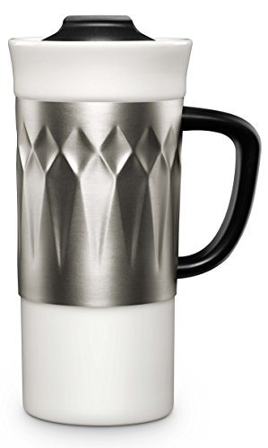Ello Bandito Ceramic Travel Mug with Spill-Resistant Slider Lid, 16 oz, (Treasures Ceramic Mug)