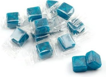 Atkinsons KOSHER Blue Peppermint Cubes Hard Blue Candy Peppermint Flavor 2 Lbs Approximately 135 Pieces