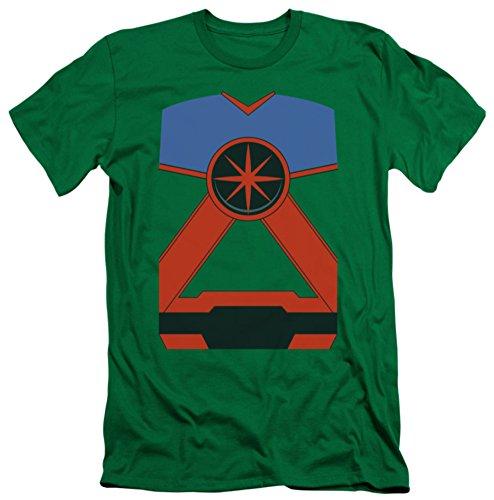 Justice League - Martian Manhunter Costume Tee (slim fit) T-Shirt Size S (Martian Manhunter Costume)