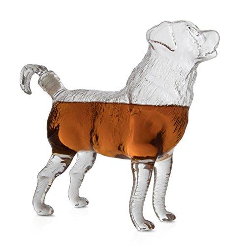 Liquor Whiskey (The Wine Savant Dog Shaped Liquor Whiskey Decanter, Beautiful Profile of A Dog 500ml - Whiskey, Wine Scotch or Liquor Decanter)