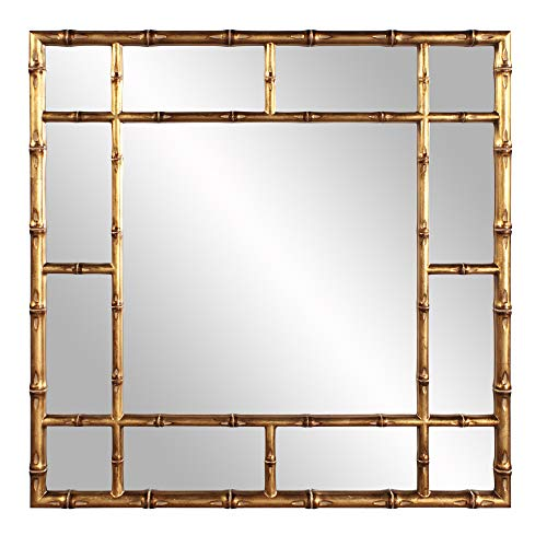 Howard Elliott 92120 Bamboo Mirror, Gold, One Size (Bamboo Wall Mirror)
