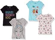Spotted Zebra Girls Disney Star Wars Marvel Frozen Princess Short-Sleeve T-Shirts