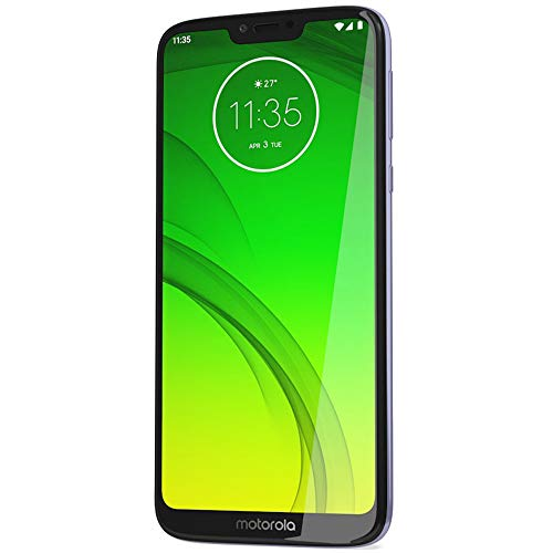 Motorola Moto G7 Power (64GB, 4GB RAM) Dual SIM 6.2 4G LTE (GSM Only) Factory Unlocked Smartphone International Model XT1955-2 No Warranty (Violet)