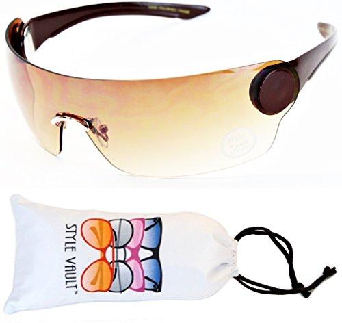 V138-vp Robocop Robot Censored Party Sunglasses (B1469F Brown-Brown, - Sunglasses Censored