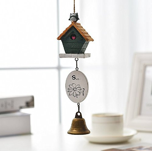 UChic 1PCS Home Wedding Accessories Resin Hangings Door Trim Wind Bell House And Birds Chimes Car Decor Kid's Faves - Shapes Fave