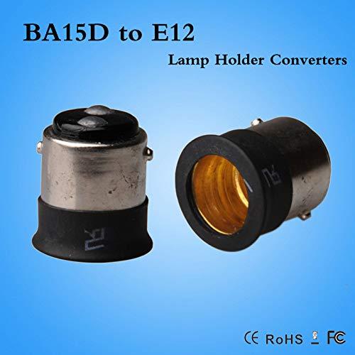 Halica BA15D to E12 lamp holder adapter E12 to BA15D lamp socket base converter