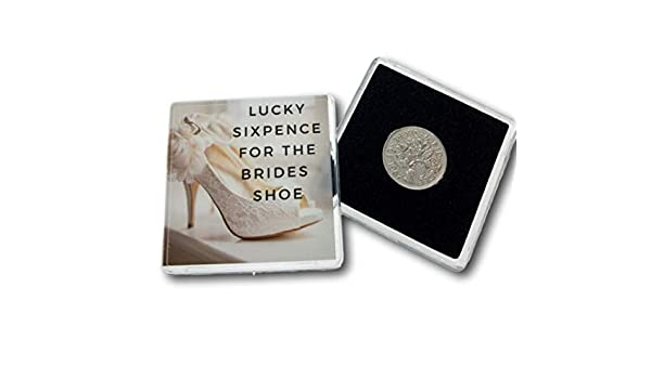 Lucky Sixpence Coin For Bride To Be Keepsake Gift Larger Size Wallet