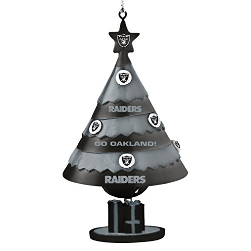 NFL Oakland Raiders Tree Bell Ornament