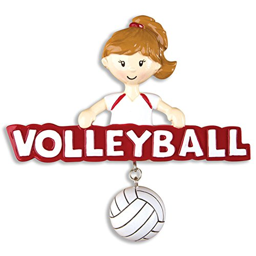 PERSONALIZED CHRISTMAS ORNAMENTS SPORTS-VOLLEYBALL-GIRL