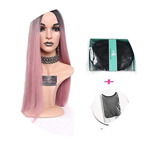 pursuit-of-self Women Long Straight Pink Heat Resistant Synthetic Wigs,R1608-JY,30inches,United -
