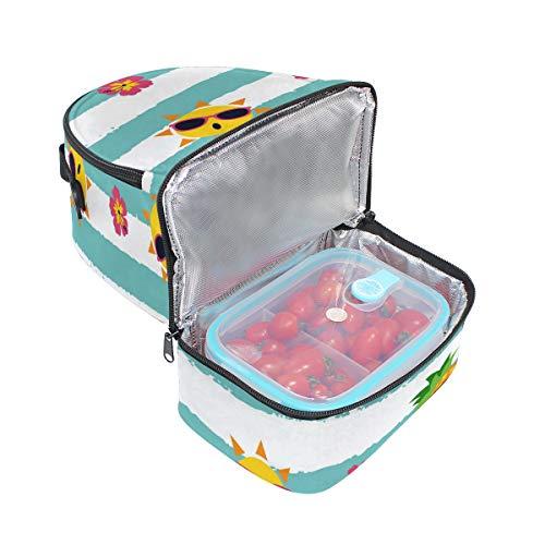 la para con con escuela con piña almuerzo hombro el pincnic ajustable rayas aislante Alinlo para de de Bolsa diseño correa de qwOvxfU0Tt