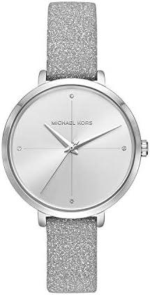 Michael Kors Charley silver leather ladies watch MK2793