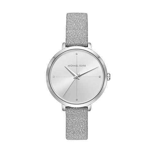 Michael Kors Women's Charley Silver Leather Watch MK2793 ()