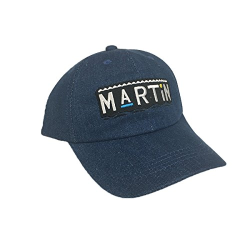 90s Tv Show Costumes (Martin Blue Denim Hat Baseball Cap Buckle Dad TV Show 90s Costume Lawrence)
