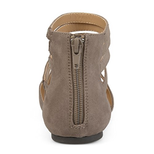 Collection Faux Womens Suede Wrap Suede Journee Taupe Flats Journee Collection Strap Faux Strap Wrap Womens PwwqaCXFxn