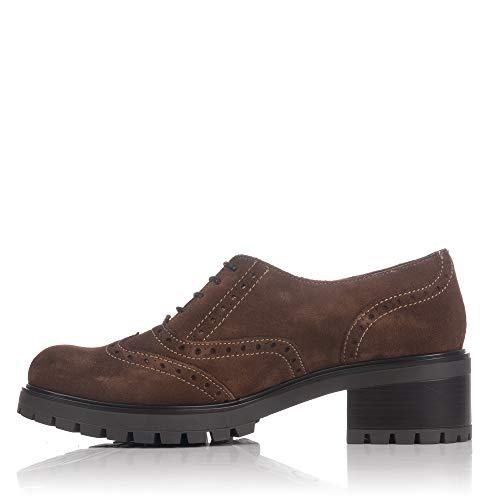 Ante Mujer 83253 Cordones Zapato Castaña LINCE wzntIqxpz