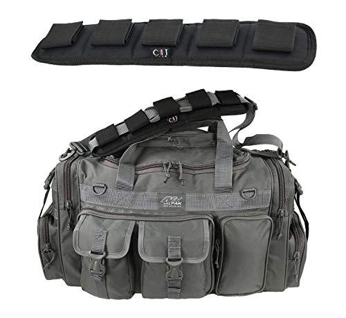 Nexpak TFBP126 3800 Cu. In. 26 Inch Gunmetal Grey Gray Convertible Backpack Duffel Molle Tactical Shoulder Strap Bag + Heavy Duty Shoulder Pad -