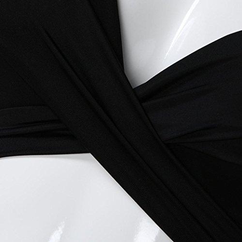 de Bikini Bikini de Acolchado Push Bikini up Verano Traje Baño Mujer FeiXiang Baño Negro Traje de Poliéster de Conjunto Ropa Baño de Conjunto Monokini OZwfq