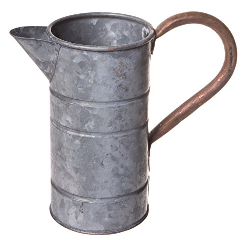 Rustic Galvanized Tin Watering Can, Decorative Pitcher, for sale  Delivered anywhere in USA