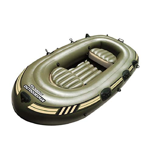 """Swim Central 130"""" Inflatable Outdoorsman 12000 Fishing Boat – 6 Persons"""
