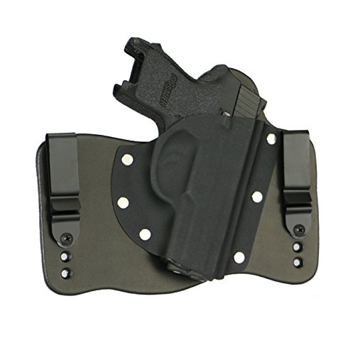 FoxX Holsters fits Sig Sauer P250 Subcompact Compatible In The Waistband Hybrid Holster Tuckable, Concealed Carry Gun Holster (Best Holster For Sig Sauer P250 Subcompact)