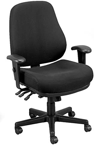 Eurotech Seating 24 7 Swivel Black Chair, Dove Black
