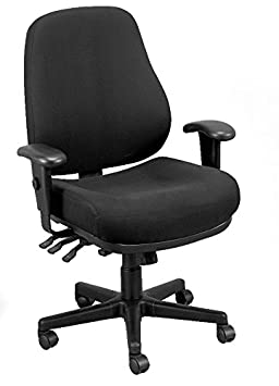 Eurotech Seating 24 7 24 7-BLKDOVE Swivel Black Chair, Dove Black