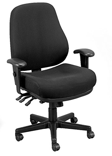 Eurotech Seating 24/7 24/7-BLKDOVE Swivel Black Chair, Dove Black