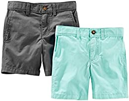 Toddler Boys 2-Pack Flat Front Shorts