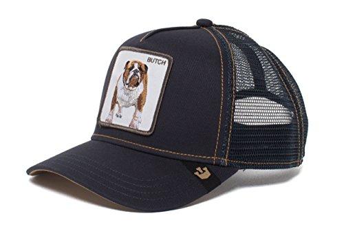 Navy Blue Bulldog - Goorin Bros. Animal Farm 'Butch' Bulldog Snaback Trucker Hat Navy Blue