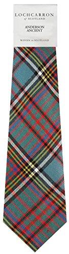 Clan Tie Anderson Ancient Tartan Pure Wool Scottish Handmade Necktie