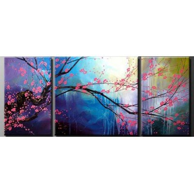 Sangu 100% Hand-painted Tree Blossom Oil Paintings Gift Modern Canvas Wall Art Paintings For Living Room.