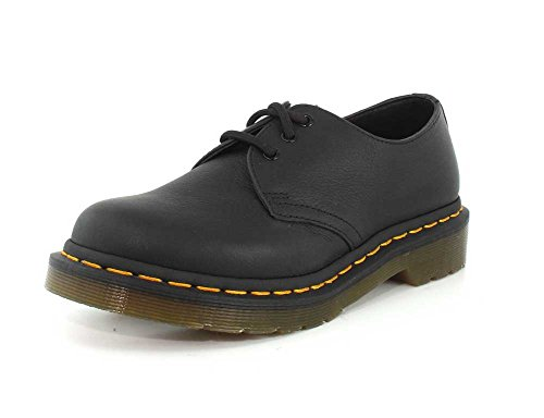 Scarpe Virginia Black Leather Martens 1461 Donna Dr nvSg8c4qUB