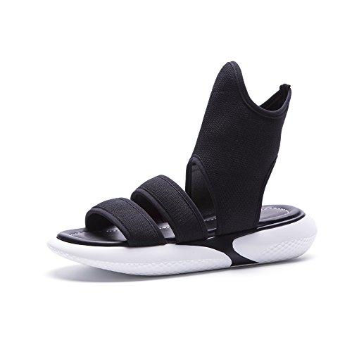 Donyyyy Calzado casual, sandalias, verano casual, fondo plano de fondo pesados zapatos de mujer,negro,36 Forty-two