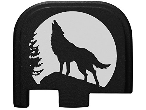 for Glock 43 9MM Rear Slide Cover Plate Black NDZ Wolf Moon