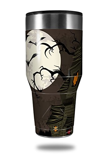 Skin Decal Wrap for Walmart Ozark Trail Tumblers 40oz Halloween Haunted House (TUMBLER NOT INCLUDED) by WraptorSkinz