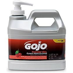 GOJO 2356-04 Cherry Gel Pumice Hand Cleaner, 1/2 Gallon Bottle (Pack of 4)