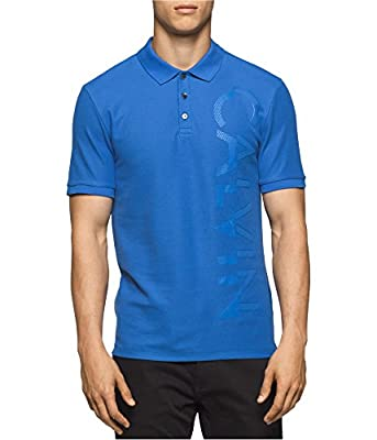 Calvin Klein Men's Short Sleeve Pique Cotton Polo Shirt