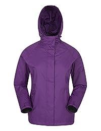 Mountain Warehouse Torrent Womens Jacket - Light All Season Rain Coat Purple 8