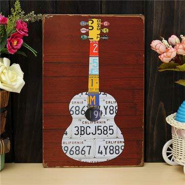 Vintage Wall Signs - Vintage Guitar Signs -