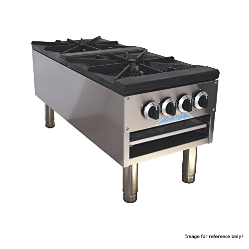 Comstock Castle CCSP-2 18'' Gas Stock Pot Range with Two Burners by Comstock Castle