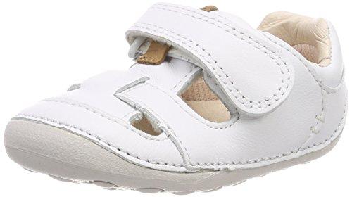 Clarks Mädchen Tiny Meadow Geschlossene Sandalen Weiß (White Leather)