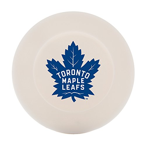 Franklin Sports Toronto Maple Leafs Street Hockey Puck - Molded PVC Team Logo Puck for Smooth Surfaces - NHL Official Licensed Product