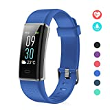 Juboury Fitness Tracker,Fitness Watch Activity Tracker with Heart Rate Monitor, IP68 Waterproof Sports Smart Band with Monitor Step Counter 14 Sport Modes,Pedometer for Women Men Kids (Blue)